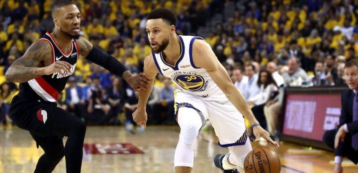 Steph Curry's career highlight, Warriors win against Blazer