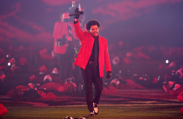 The Weeknd appearance at the Super Bowl Halftime Show